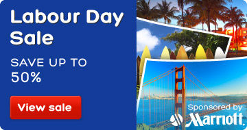 Labour Day hotel sale: save up to 50%