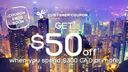 Get $50 off when you spend $300 or more